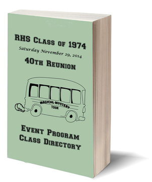 RHS 1974 40TH Reunion Program Cover